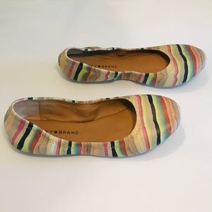 Lucky Brand Leather Stripe Flats